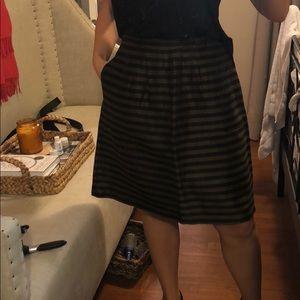 Brown and black stripes Madewell skirt